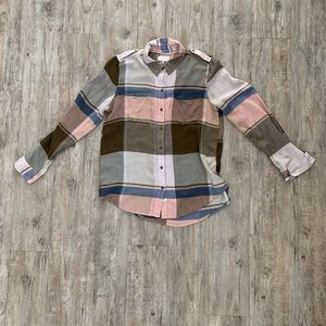 Lucky Brand Plaid Button Down Size M
